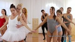 Две короткошерстные балерины трахались, как член
