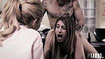 Молодая брюнетка трахается в странной старшей сестре мужа